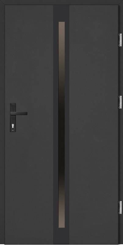 Drzwi zewnętrzne wejściowe antracyt NERO Marcello Plus 68 mm