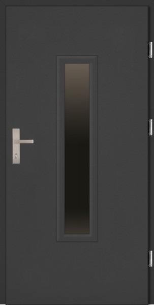 Drzwi zewnętrzne wejściowe antracyt ramka PCV MARCO Reflex Plus 68 mm