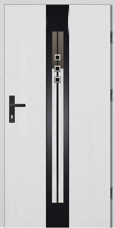 Drzwi zewnętrzne wejściowe białe Fabio STEP 68 mm
