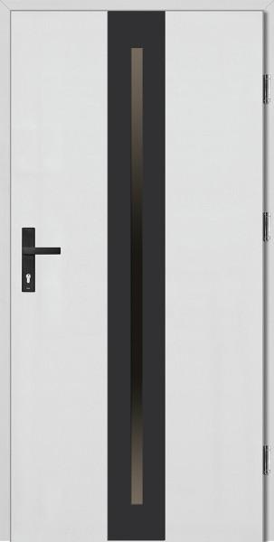 Drzwi wejściowe białe ramka NERO Matteo Plus