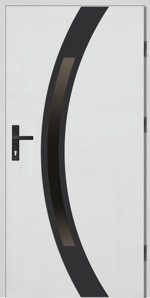 Drzwi wejściowe białe ramka NERO Luciano Uno Plus