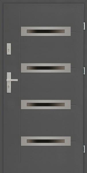 Drzwi zewnętrzne antracyt Angelo 4 Modern