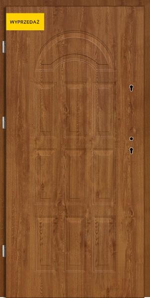 Drzwi wejściowe Eco Venus W12 Pełne złoty dąb 80 cm lewe