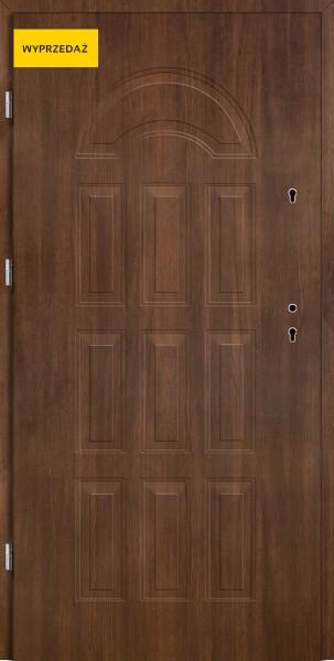Drzwi wejściowe Eco Venus W12 Pełne orzech mahoń 80 cm lewe