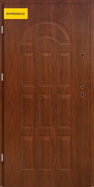 Drzwi wejściowe Eco Venus W12 Pełne mahoń 80 cm lewe