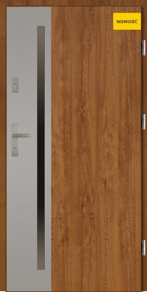 Drzwi zewnętrzne złoty dąb model Apollo Uno Classico