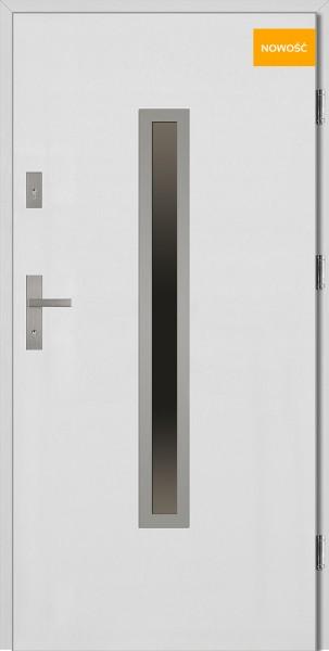 Drzwi wejściowe 90 cm białe Dario Płaskie SETTO
