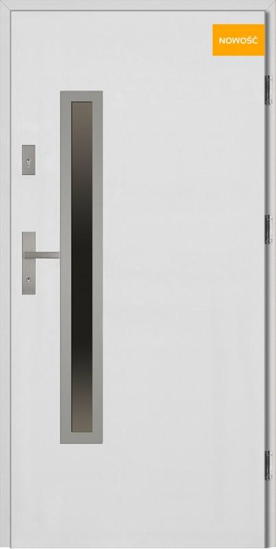 Drzwi wejściowe 90 cm białe Dario Uno Płaskie SETTO