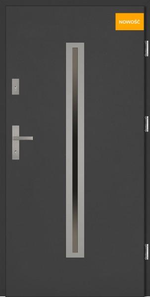 Drzwi wejściowe 90 cm antracyt Paolo Płaskie SETTO