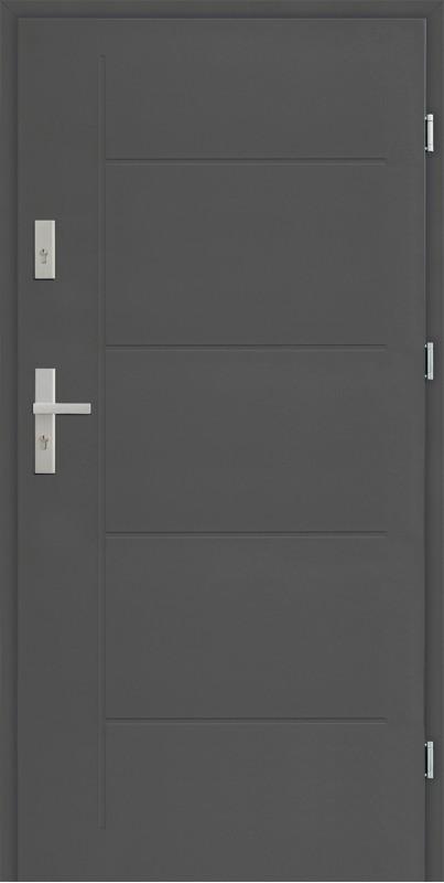 Drzwi zewnętrzne SETTO 90 cm antracyt Pełne Modern