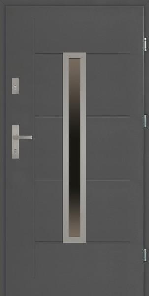 Drzwi zewnętrzne SETTO 90 cm antracyt Dario Modern z przeszkleniem