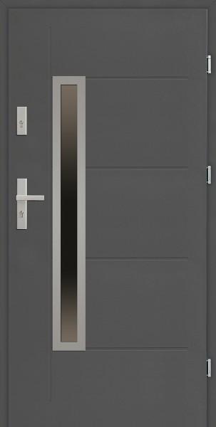 Drzwi zewnętrzne SETTO 90 cm antracyt model Dario Uno Modern