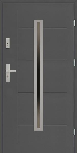 Drzwi zewnętrzne SETTO antracyt 90 cm Paolo Modern z tłoczeniem