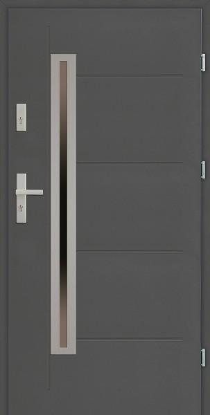 Drzwi zewnętrzne SETTO antracyt 90 cm model Paolo Uno Modern