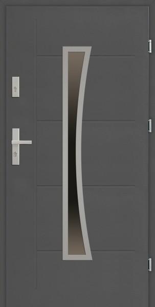 Drzwi zewnętrzne SETTO antracyt z tłoczeniem 90 cm Raffaello Modern