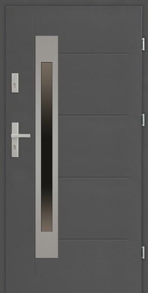 Drzwi zewnętrzne 90 cm antracyt Fabio Uno Modern SETTO