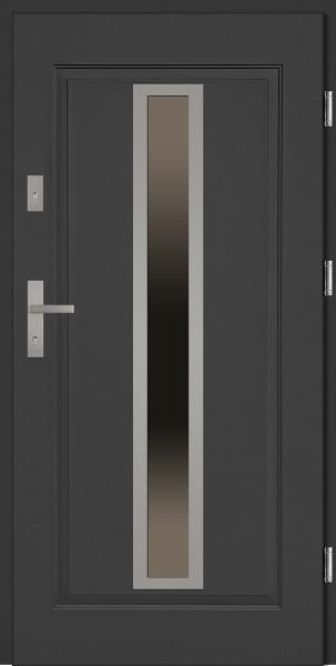 Drzwi stalowe wejściowe antracyt Diego 68 SETTO