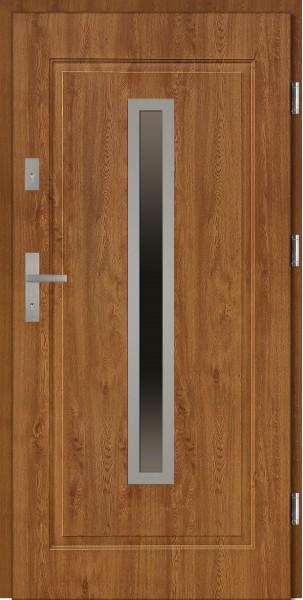 Drzwi stalowe wejściowe złoty dąb Dario 68 SETTO