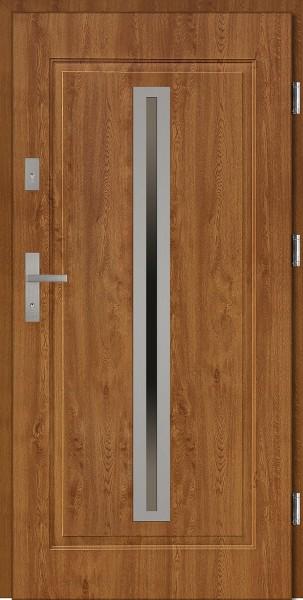 Drzwi stalowe wejściowe złoty dąb Paolo 68 SETTO