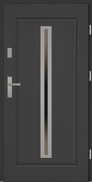 Drzwi stalowe wejściowe antracyt Paolo 68 SETTO