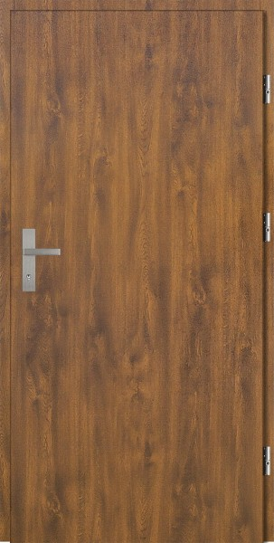 Drzwi zewnętrzne złoty dąb klamka INOX Pełne 92 SETTO