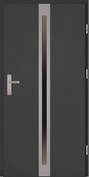 Drzwi zewnętrzne antracyt ramka INOX Marcello 92 SETTO