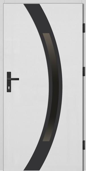 Drzwi zewnętrzne białe ramka NERO Luciano 92 SETTO