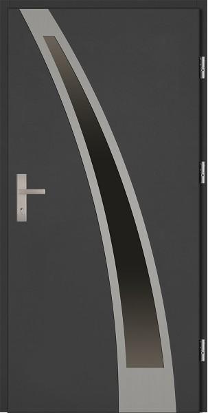 Drzwi zewnętrzne antracyt ramka INOX Enrico Plus 92 SETTO