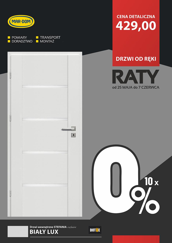 Raty 10x0% na białe drzwi pokojowe DOTIIE w MAR-DOM Konin