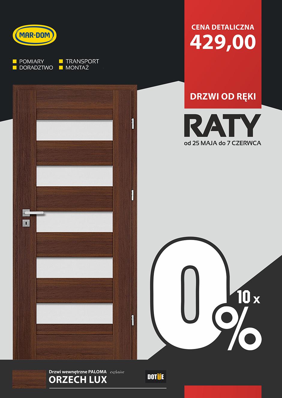 Raty 10x0% na drzwi wewnętrzne DOTIIE w MAR-DOM Konin