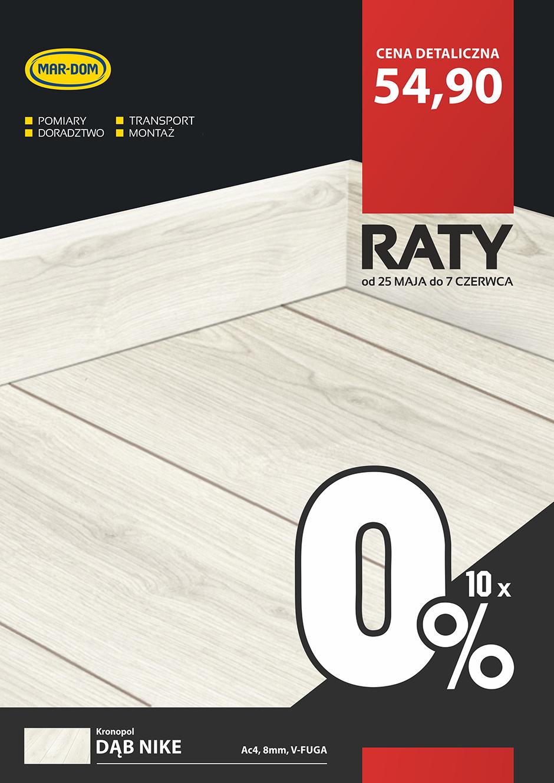 Raty 10x0% na panele laminowane Kronopol w MAR-DOM Konin