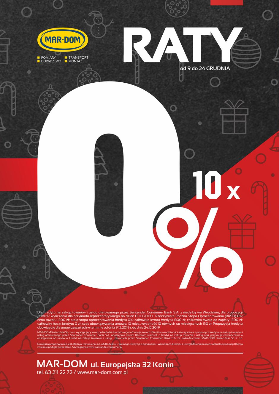 Raty 10x0% na drzwi zewnętrzne drzwi wewnętrzne i okna w MAR-DOM Konin