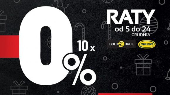 Od 5 do 24 grudnia raty 10x0% na cały asortyment w MAR-DOM Konin