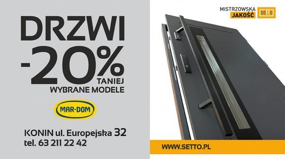 Promocja: DRZWI ZEWNĘTRZNE SETTO -20%