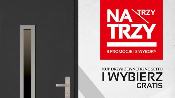 Promocja TRZY NA TRZY - na drzwi zewnętrzne SETTO
