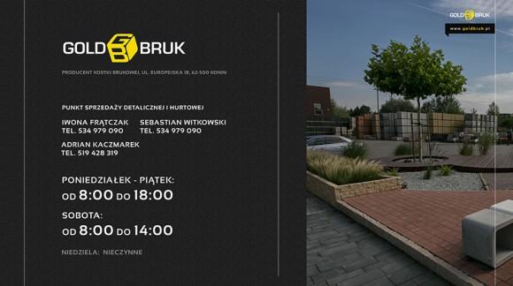 Kostka brukowa GOLD BRUK - zmiana godzin pracy działu sprzedaży