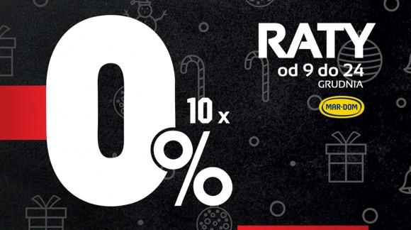 Raty 10x0% w MAR-DOMie na panele okna i drzwi